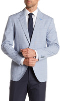Tailorbyrd Blue Plaid Two Button Notch Lapel Sport Coat
