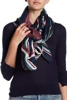 Joe Fresh Woven Printed Raw Hem Scarf