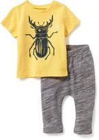 Old Navy Graphic Tee & Printed Jersey Pant Set for Baby