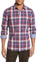 Nordstrom Men's Trim Fit Workwear Duofold Plaid Sport Shirt