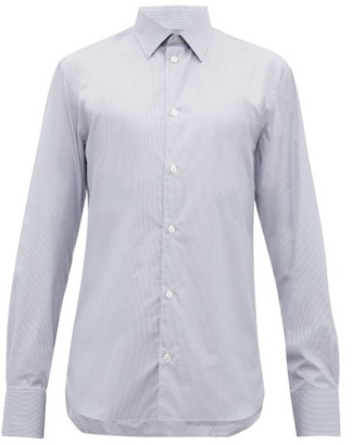 The Row Jasper Striped Cotton Shirt - Mens - Grey White