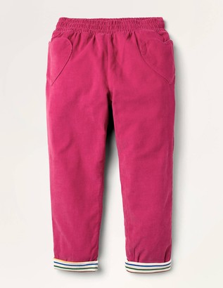 Lined Pull-on Cord Trousers