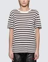 Alexander Wang Classic Striped Slub Jersey T-shirt