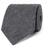 Oliver Spencer 8cm Mélange Cotton-jacquard Tie - Gray