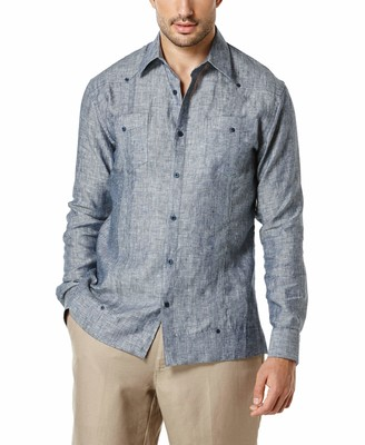 Cubavera Linen Double Pocket Guayabera Shirt - Long Sleeve