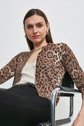 Karen Millen Printed Knit Cardigan