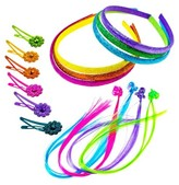 Snap Clips Gimme Clips Headband Elastics - Mix - 66 ct