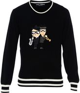 Dolce & Gabbana Black Musician Designers Crewneck