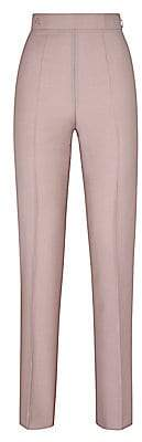 Fendi Women's Mohair High-Waist Slim-Leg Pants