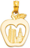 Macy's 14k Gold Charm, New York Skyline in Apple Charm