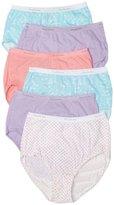 Fruit of the Loom Womens 6 Pack Cotton Thongs Panties