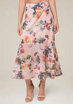 Bebe Floral Print Maxi Skirt