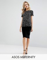 Asos Velvet Pencil Skirt
