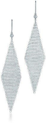 Tiffany & Co. Elsa Peretti Mesh earrings in sterling silver with diamonds, small