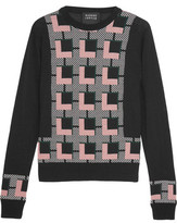 Markus Lupfer Grace Intarsia-Knit Wool Sweater