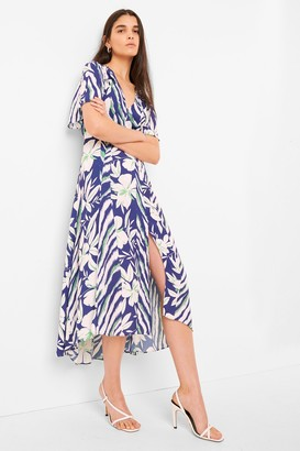 French Connection Diah Crepe Faux Wrap Belted Dress