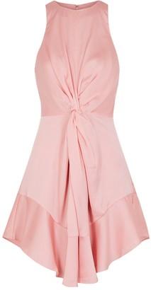 Keepsake These Days Pink Satin Mini Dress