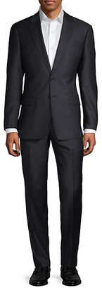 Armani Collezioni Classic-Fit Micro-Weave Wool Suit