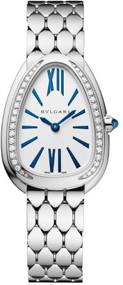Bvlgari White Gold and Diamond Serpenti Seduttori Watch 33mm