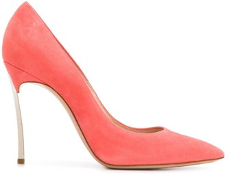Casadei Blade 115mm suede pumps
