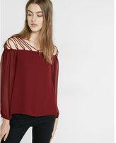 Express lace-up shoulder blouse