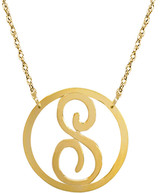 Jane Basch 22K Over Silver Initial Pendant (A-Z)
