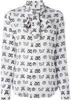 Moschino symbols print blouse - women - Silk - 44