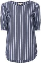 MICHAEL Michael Kors striped half sleeve blouse
