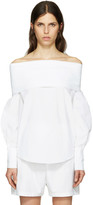 Emilio Pucci White Off-the-shoulder Blouse