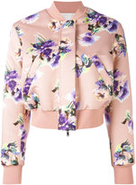 MSGM floral print bomber jacket - women - Polyester - 40