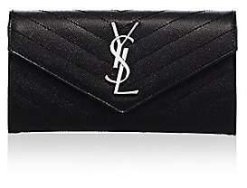 Saint Laurent Women's Large Monogram Matelassé Leather Flap Wallet