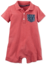 Carter's Polo Pocket Romper, Baby Boys (0-24 months)