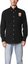 Gitman Brothers Long Sleeve Mt. Fuji Black Flannel Shirt