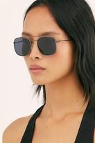Free People I Sea Maverick Aviator Sunglasses by I SEA at Free People, Black, One Size