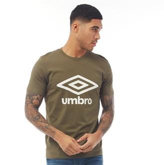 Umbro Mens Active Style Logo T-Shirt Olive Night/White