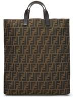 Fendi Brown Zucca Canvas Tote Bag