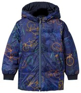 Paul Smith Reversible Bicycle Print Hooded Puffer Coat