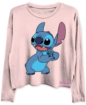 Disney Cropped Stitch Graphic Long Sleeve T-Shirt