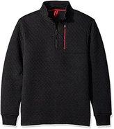 UNIONBAY Men's Quilted Quarter Zip Fleece Sweatshirt