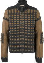 Al Duca D'Aosta 1902 check knit cardigan