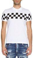 DSQUARED2 Checkered Polo Shirt, White