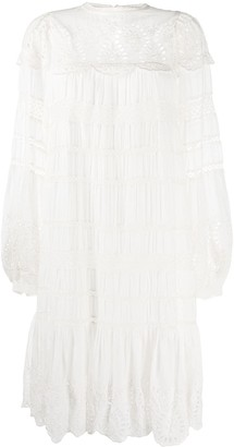 Sea Broderie Anglaise Shift Dress