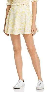 Charlie Holiday Lemonade Floral Mini Skirt