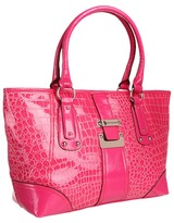 U.S. Polo Assn. USPA Mischief Chief Croco Tote (Pink) - Bags and Luggage