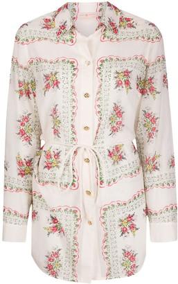 Tory Burch Brigitte floral-print shirt