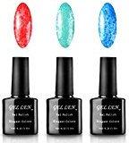 Gellen Gel Polish UV Gel Colors Nail Art 10ml 3Pcs Black Bottle Elegant Snowflake Gel Series Colors#09