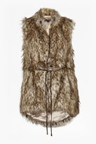 French Connection Hi Lo Faux Fur Racoon Vest