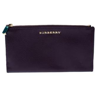 Burberry Purple Patent leather Wallets