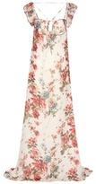 Saint Laurent Printed silk chiffon maxi dress