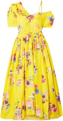 Preen by Thornton Bregazzi Domino Floral-print Silk-blend Cloque Midi Dress